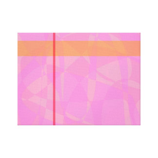 Coral Pink Marble Minimalism Gallery Wrap Canvas