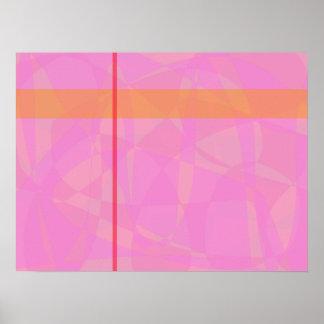 Coral Pink Marble Minimalism Posters
