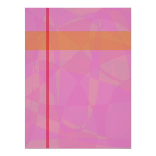 Coral Pink Marble Minimalism Posters