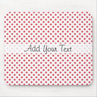 Coral Pink Polka Dots by Shirley Taylor Mouse Pad