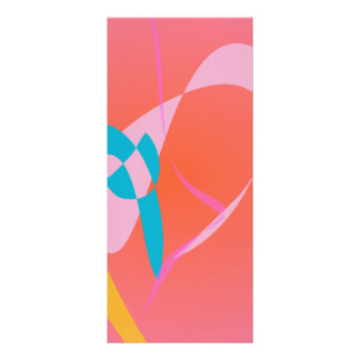 Coral Pink Simple Abstract Art Rack Card Design