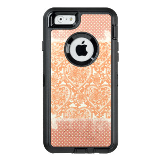 Coral Polkadots Lacy Hearts Grunge Pattern OtterBox iPhone 6/6s Case
