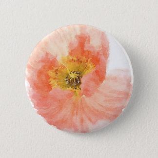 Coral Poppy 6 Cm Round Badge