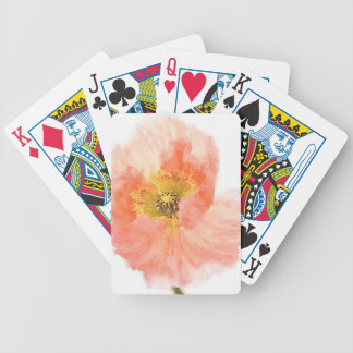 Coral Poppy Bicycle Playing Cards