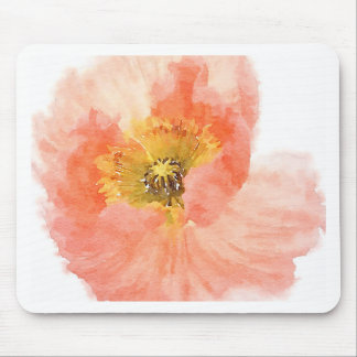 Coral Poppy Mouse Pad