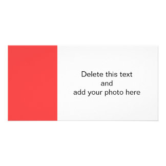 Coral Red High End Colored Photo Card Template