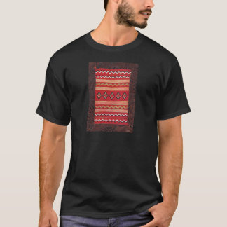 Coral Red Native American Indian Blanket T-Shirt