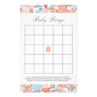 Coral Reef | Baby Bingo Stationery