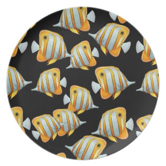 Coral Reef Copperband Butterfly Fish Plate