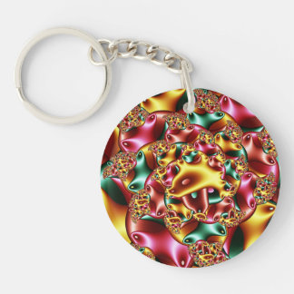 Coral reef Double-Sided round acrylic key ring