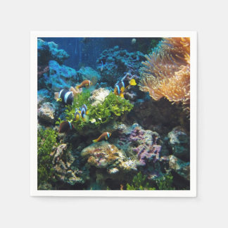 Coral Reef paper napkins