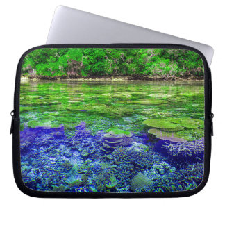 Coral Reef Tropical Coastline Laptop Sleeve