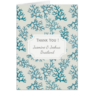 Coral Reef turquoise patterns personalize Card