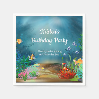 Coral Reef Under the Sea Party Disposable Serviettes