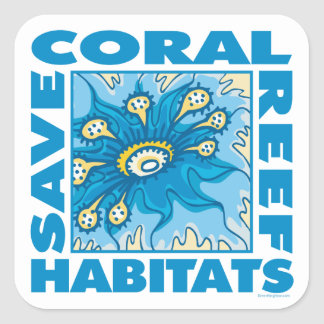 Coral Reefs Square Sticker