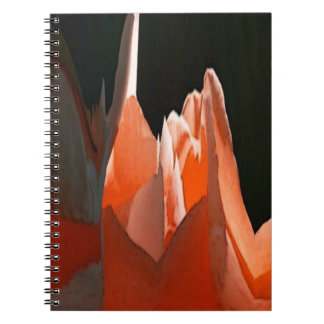 Coral Rose Abstract Note Book