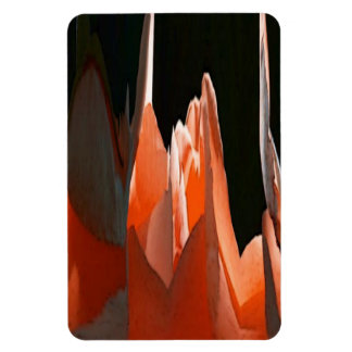 Coral Rose Abstract Rectangle Magnet