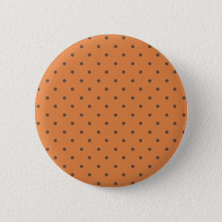 Coral Rose And Light Brown Polka Dots 6 Cm Round Badge