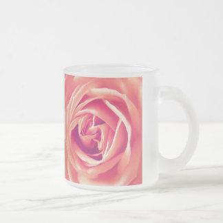 Coral rose print coffee mugs