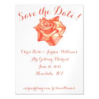 Coral Rose Save the Date Magnet Wedding Elegant Magnetic Invitations