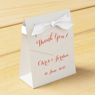 Coral Rose Simple Elegant Summer Wedding Favour Boxes