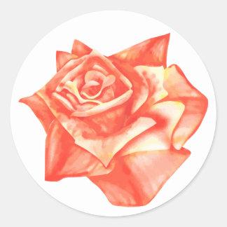 Coral Rose Simple Elegant Wedding Envelope Seal