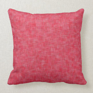 """Coral Rose Solid Texture Throw Pillow 20"""" x 20"""""""