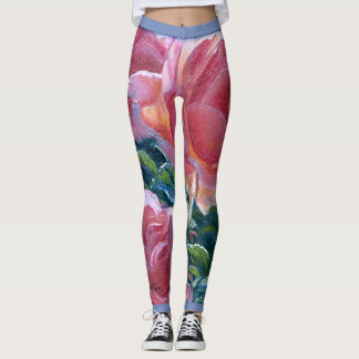 """Coral Roses"" Leggings"