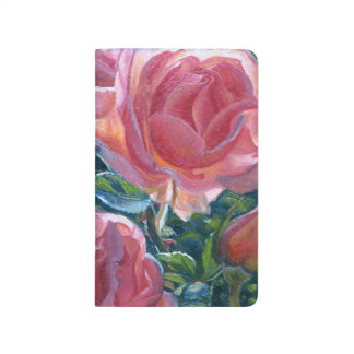"""""""Coral Roses"""" Notebook"""