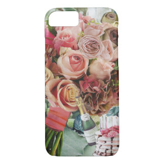 Coral Roses on Misty Green iPhone 8/7 Case