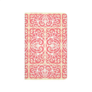 Coral scrollwork pattern journal