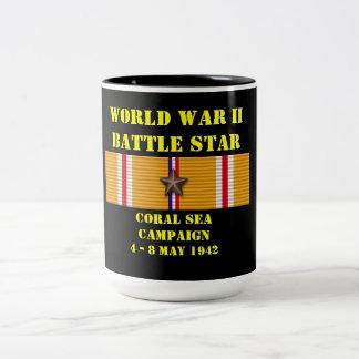 Coral Sea Campaign Two-Tone Mug