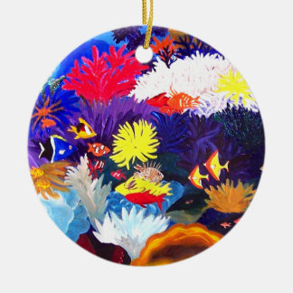 Coral Sea Ceramic Ornament