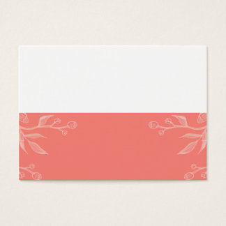 Coral | Simple and Elegant Custom Place card