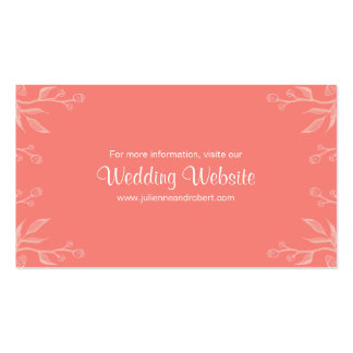Coral | Simple and Elegant Wedding Website Card Pack Of Standard Business Cards