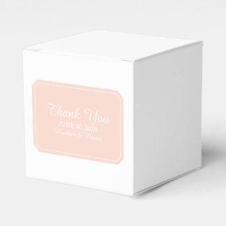 Coral Simply Elegant Favor Boxes