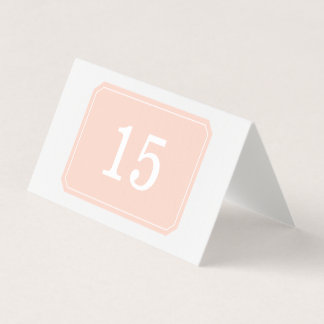 Coral Simply Elegant Folded Table Card