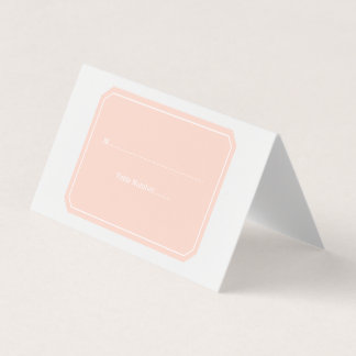 Coral Simply Elegant Place Cards