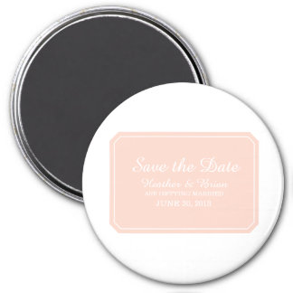 Coral Simply Elegant Save the Date 7.5 Cm Round Magnet