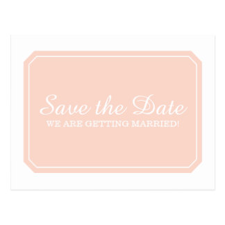 Coral Simply Elegant Save the Date Postcard