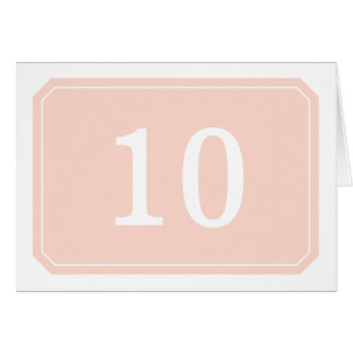 Coral Simply Elegant Table Number Card
