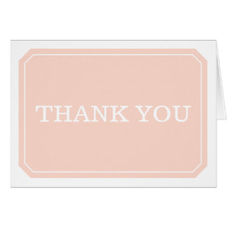 Coral Simply Elegant Thank You Card