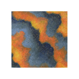 Coral Skies Wood Wall Art