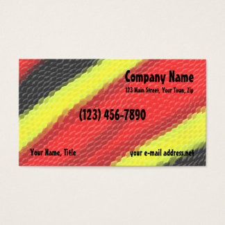 Coral Snake Skin Business Card