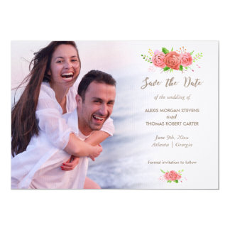 Coral Spring Save The Date Card