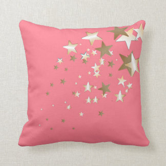 Coral Star Throw Pillow