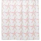 Coral Starfish Shower Curtain