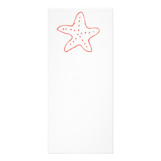 Coral Starfish Tropical Beach Illustration Rack Card