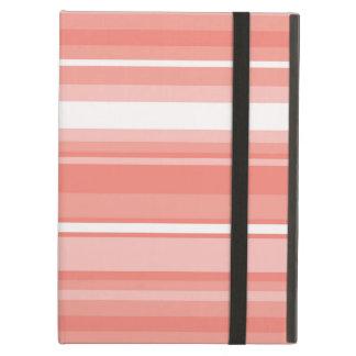 Coral stripes iPad air cover