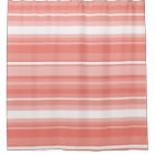 Coral stripes shower curtain